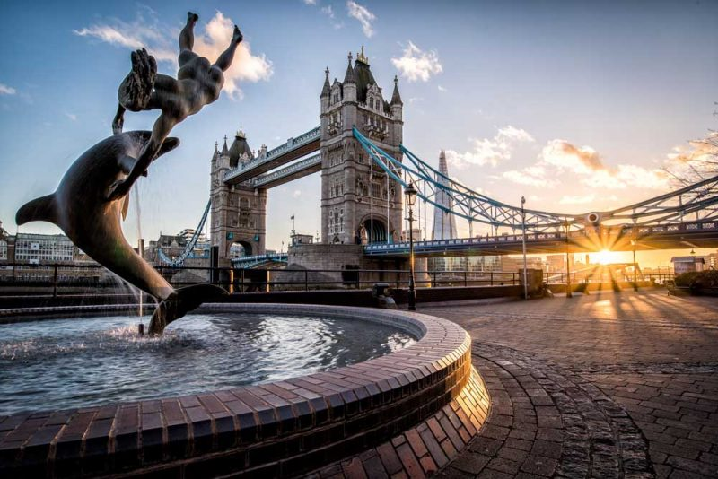 London Tower Bridge at Sunset